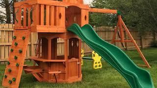 Backyard Discovery Woodland All Cedar Wood Playset Swing Set Review