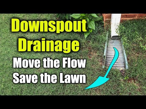 Move Downspout Drainage - Flexible Gutter Drain Pipe