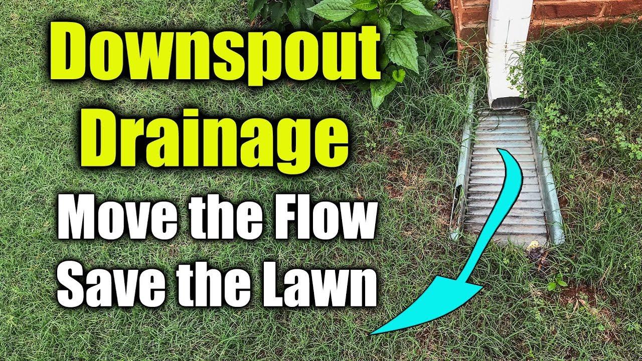 Move Downspout Drainage - Flexible Gutter Drain Pipe
