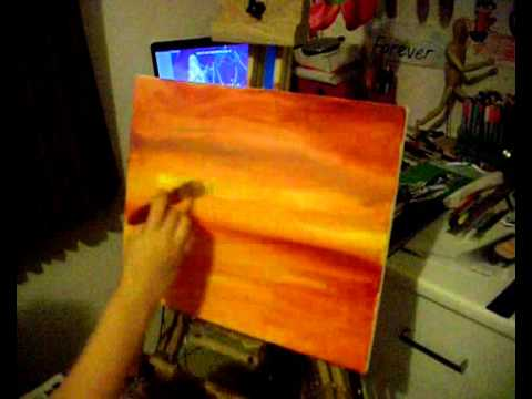 Speed Painting of a Beach Sunset - YouTube