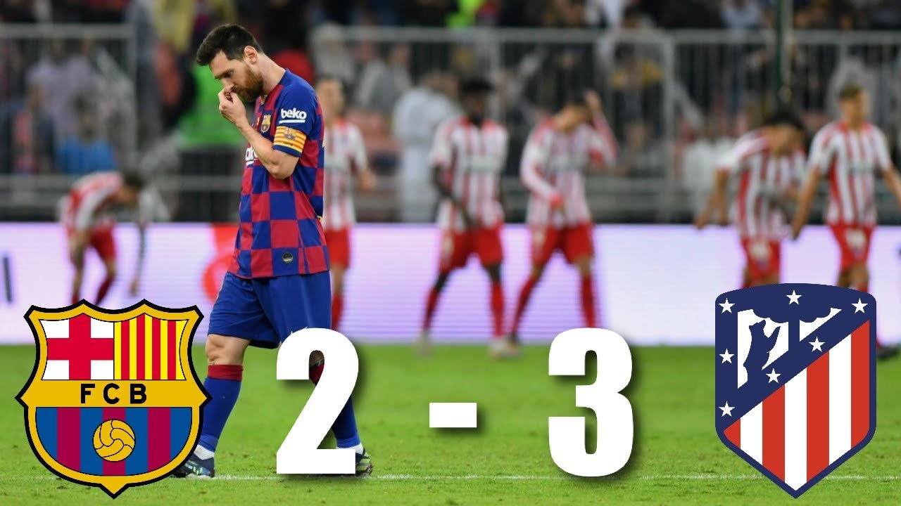 Barcelona Vs Atletico Madrid Spanish Super Cup Semi Final MATCH REVIEW YouTube