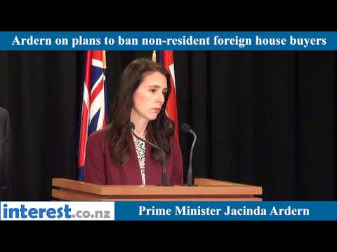 Jacinda Ardern on foreign house buyer ban