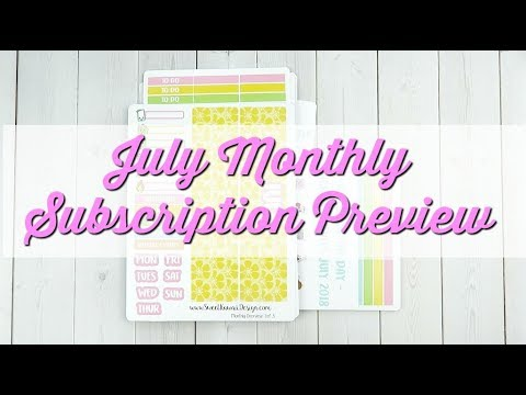 Sweet Kawaii Design - Monthly Subscription - July Preview