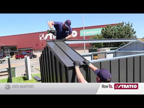 NEW Handi-Hilander shed - Roof Cladding Install