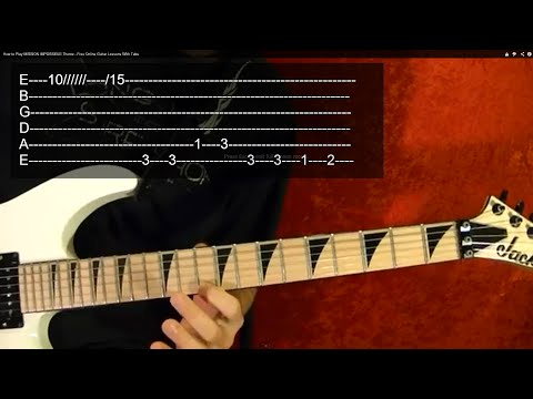 MISSION IMPOSSIBLE Theme - Guitar Lesson