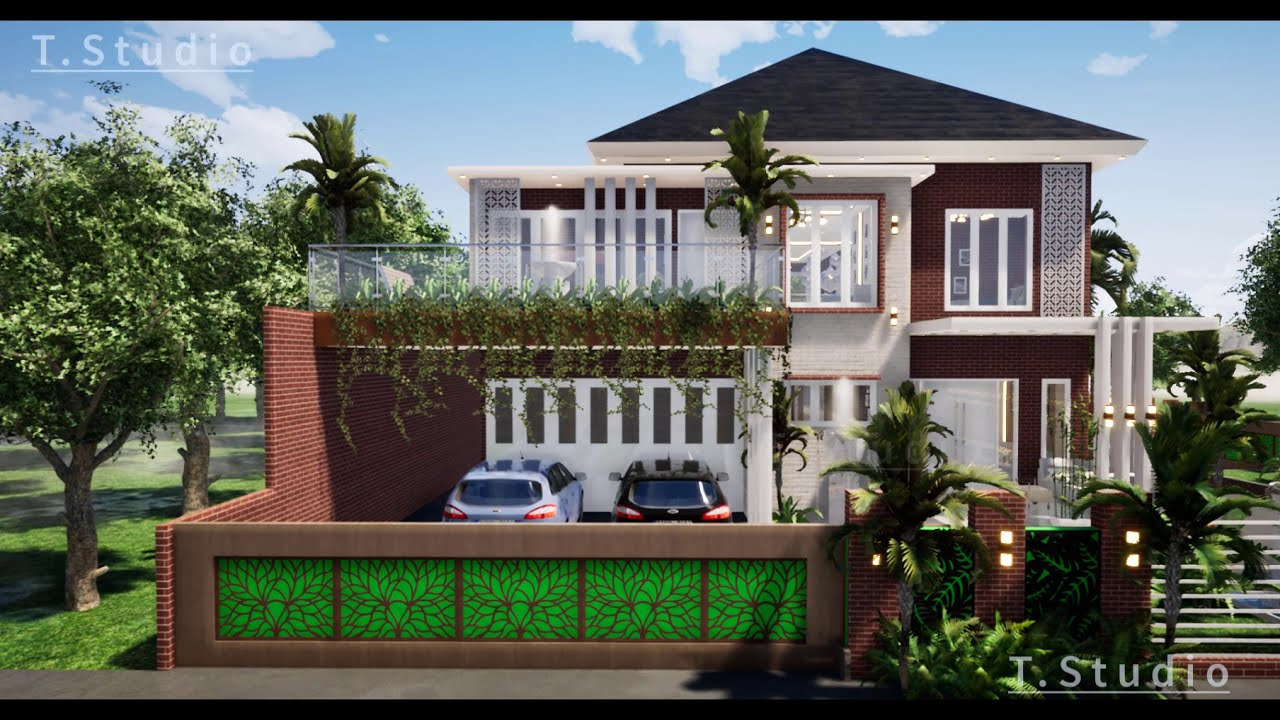 Desain Rumah Minimalis Modern Tropis Industrial 2 Lantai ...