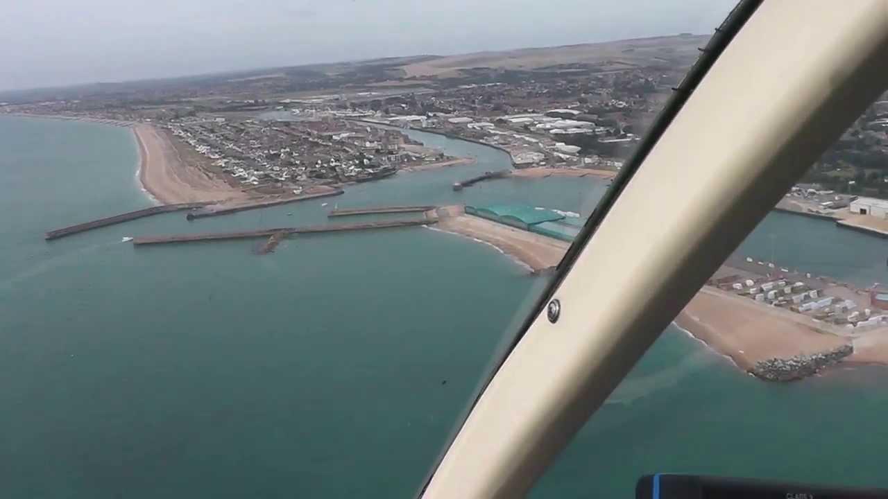 M Bel Airport flight around shoreham airport in bell 206 jetranger