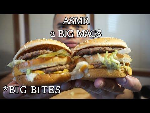 Asmr 2 BIG MAC *SAVAGE EATING *BIG BITES *NO TALKING