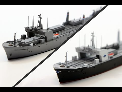 Optatus Berlin - Production of a 1250 scale model - Doctor Lykes and Cape Mendocino -