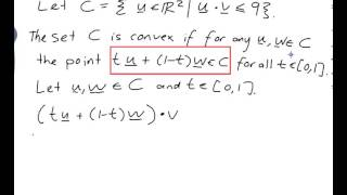 EXAMPLE: Proving that a set is convex