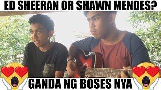 Sino mas kaboses nya, Ed Sheeran or Shawn Mendes?