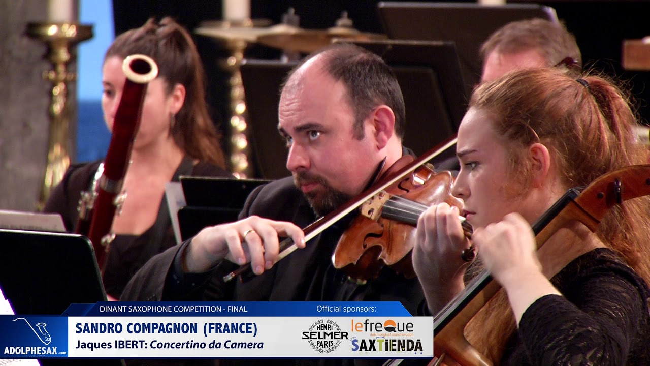 Sandro Compagnon (France) – Concertino da Camera by Jacques Ibert (Dinant 2019)