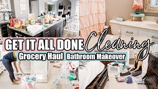 CLEAN WITH ME-GETTING IT ALL DONE MOTIVATION-GROCERY HAUL-BATHROOM MAKEOVER+REVEAL|JESSI CHRISTINE