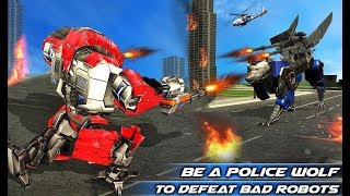 Air Force Transform Robot Cop Wolf Helicopter Game (By Kick Time Studios) Gameplay HD