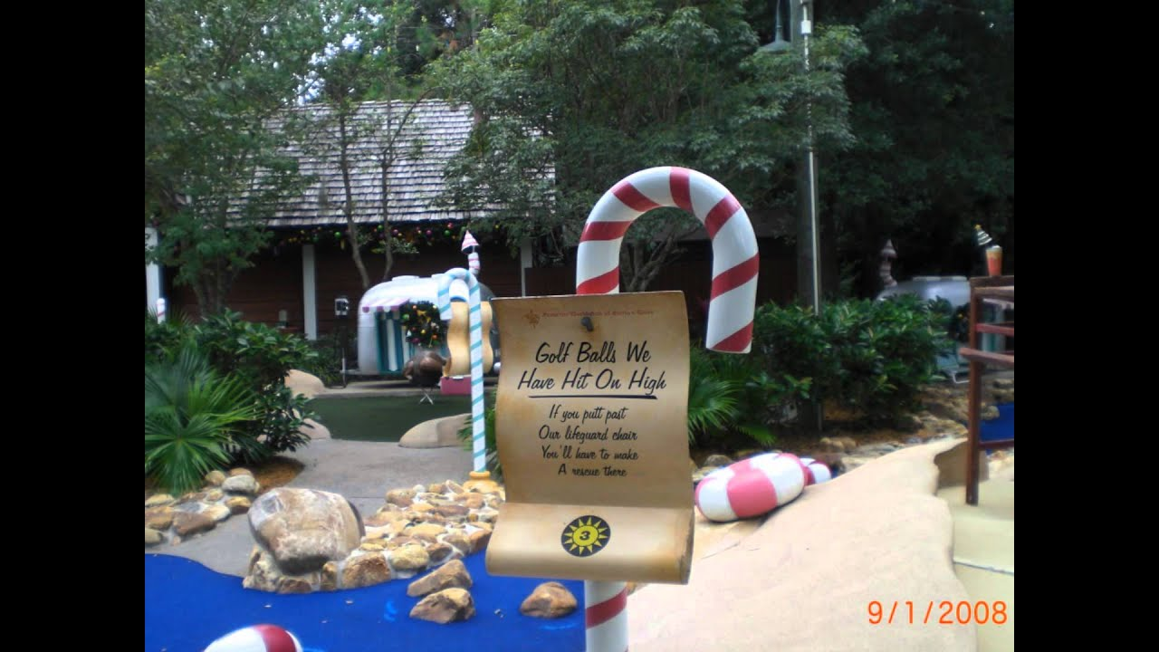 Disney 39 S Winter Summerland Miniature Golf Course Summer Course Youtube