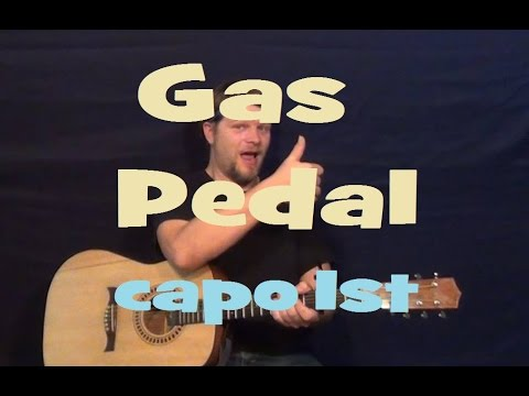 Gas Pedal (Sage the Gemini) Easy Strum Guitar Lesson Capo 1st Fret How to Play Tutorial