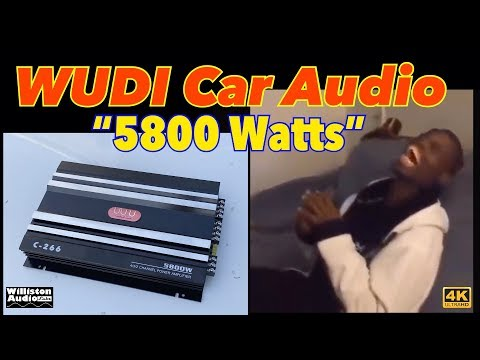 I Paid $45 For 5800 Watts? WUDI Car Audio C-266 Four Channel Amplifier [4K]