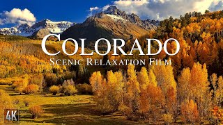 Colorado 4K Relaxation Film | Rocky Mountains Panorama | Colorado Nature with Ambient Music