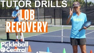 Pickleball Tutor Drills with Simone Jardim: How to Practice Recovery on Lobs