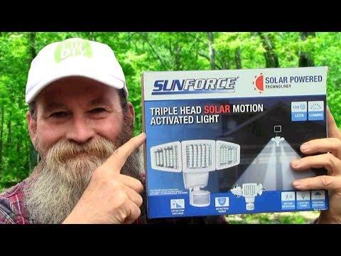 Solar Powered Motion Sensor Security Light - Live Life DIY