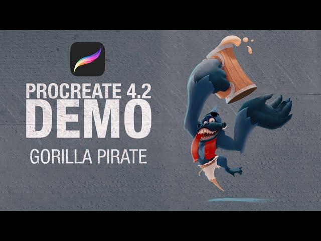 Gorilla Pirate on, procreate 4.2