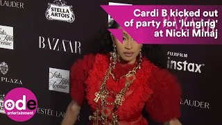 Cardi B escorted out of party after 'lunging' at Nicki Minaj
