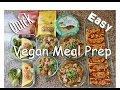 Vegan Meal Prep | NO MOCK MEATS | #HighProteinVegan Bodybuilding