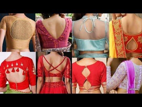 Designer Back Neck Blouse Designs For Women Latest Stylish Blouses Catalogue