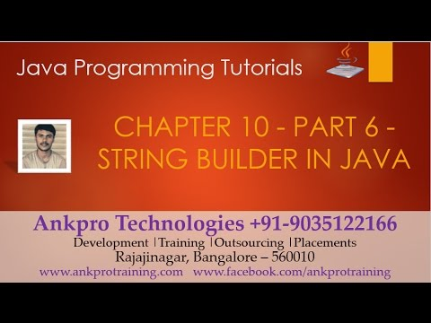Java for beginners - Chapter 10 : String builder(append, insert ...