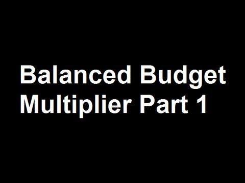 Balanced Budget Multiplier Part 1