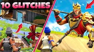 Top 10 BEST/WORST GLITCHES in Fortnite Battle Royale! (Teleporting, Under The Map, God Mode) V Bucks