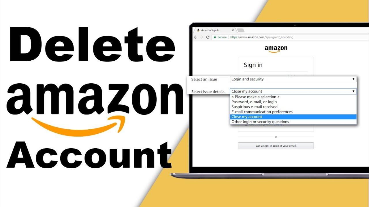 How To Delete Amazon Account Youtube