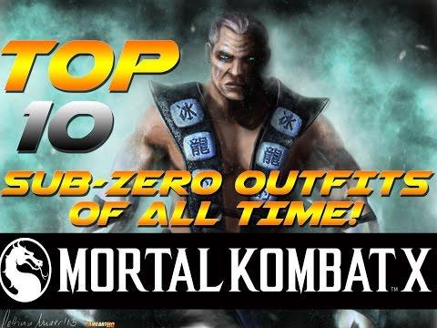Mortal kombat x top 10 sub zero outfits of all time mk 1992 mortal