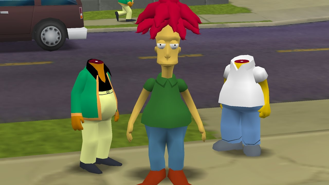 The Simpsons Hit Run Sideshow Bob And The Headless Simpsons