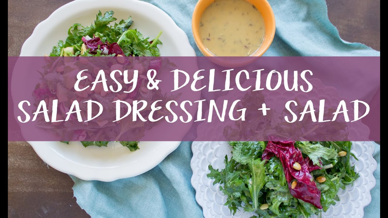 Easy Salad Dressing // Vinaigrette for Spring - YouTube