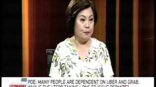 Poe to LTFRB: Are reckless buses, jeepneys safer than Grab, Uber?