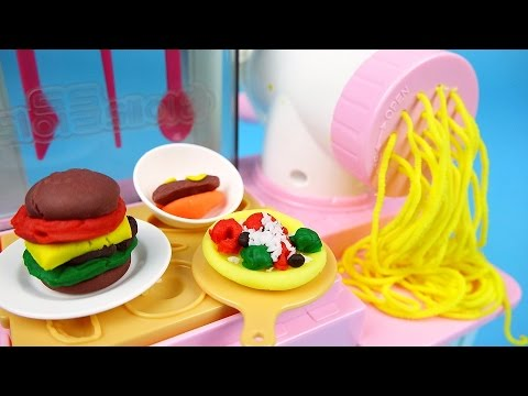 Thumbnail: Play Clay doh kitchen cooking Noodle & Pizza toys - ToyPudding