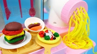 Play Clay Doh Kitchen Cooking Noodle And Pizza Toys