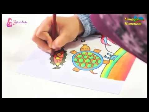 Tutorial Mewarnai Cat Air Dan Oil Pastel Youtube