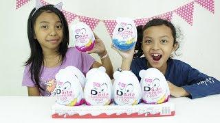 Duh kecewaaaaa... Masa dapat mobil ? Jumbo Surprise Eggs♥ Mainan Anak Kinder Joy