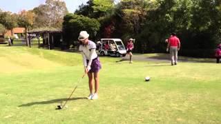 2013年女子ゴルフ完璧なショット