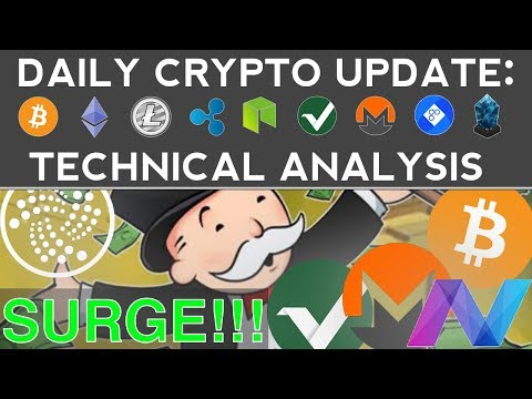 BTC, IOTA, MONERO, VERTCOIN SURGE!!! (12/5/17) Daily Update + Technical Analysis