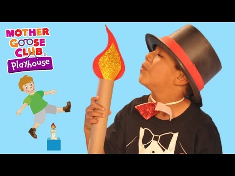 Fun Jumping Challenge   Jack Be Nimble   Mother Goose Club Playhouse Kids Video