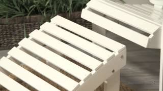 Coral Coast White Painted Acacia Adirondack Ottoman - Product Review Video