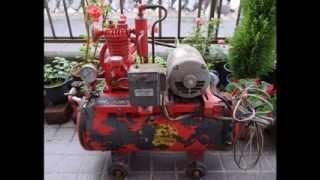 スクラップ屋さんで昭和の雰囲気漂うコンプレッサーを発見! 動くかどう...