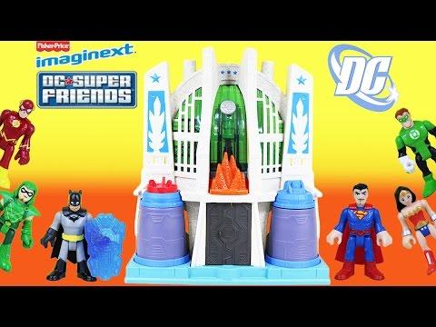 Imaginext DC Super Friends Hall of Justice w/ Superman and Batman mini figures.