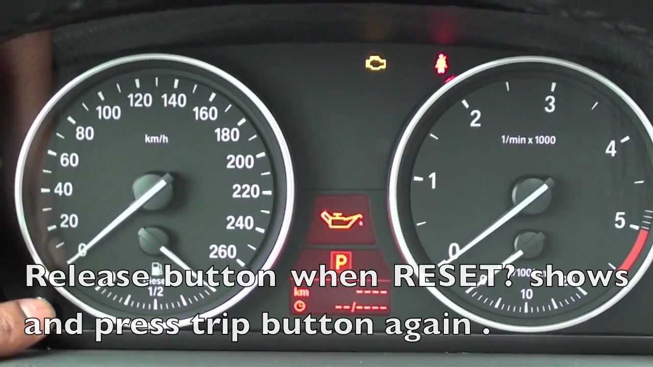 How To Reset The 2006 2011 Bmw Maintenance Light Oil Brake Service Youtube