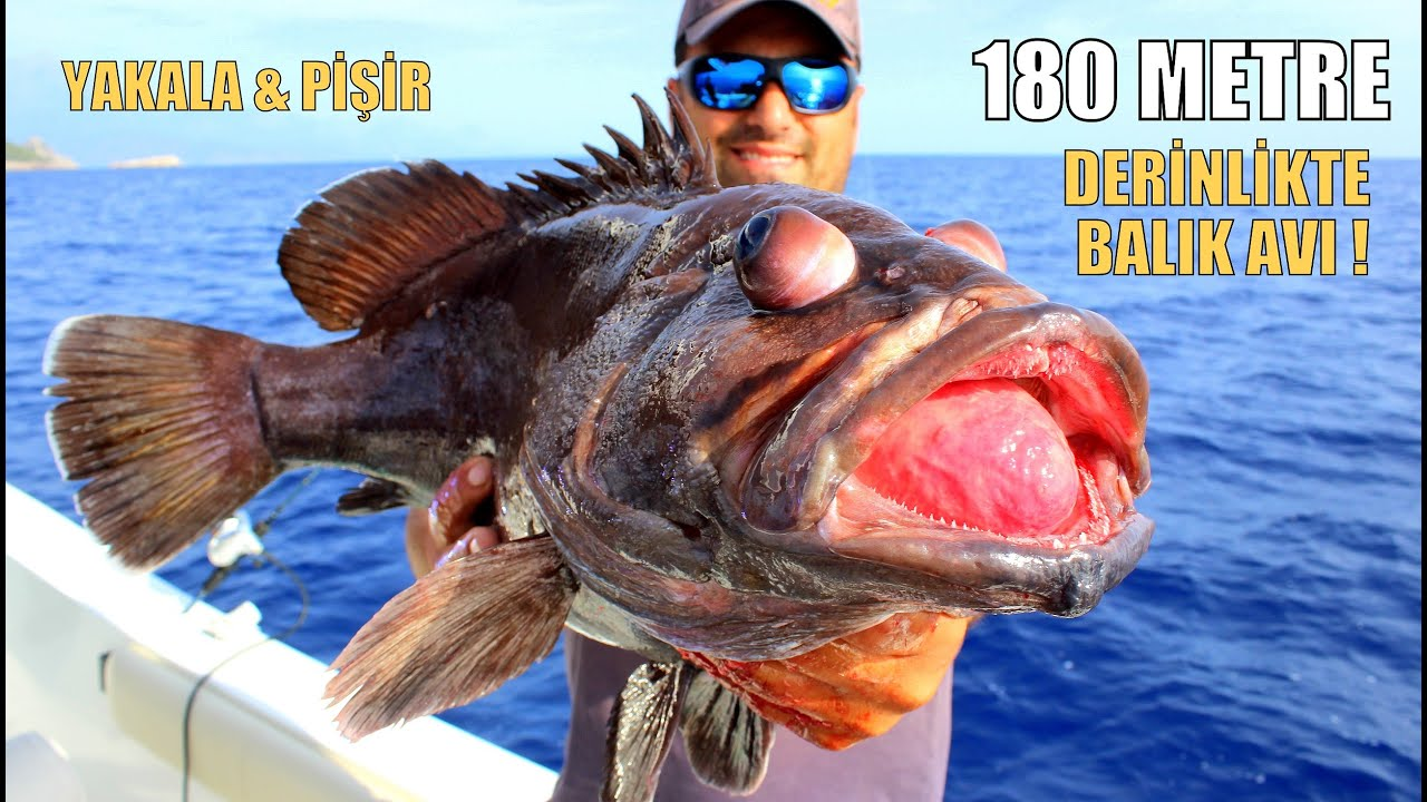 Denizlerin En Çirkin Balığını Yakalayıp Yedik / Catch & Cook Deep Sea Grouper