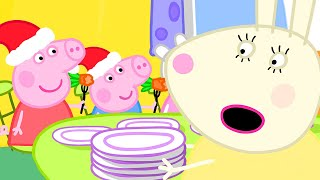 Peppa Pig Official Channel | Miss Rabbit's Day Off on Christmas Day
