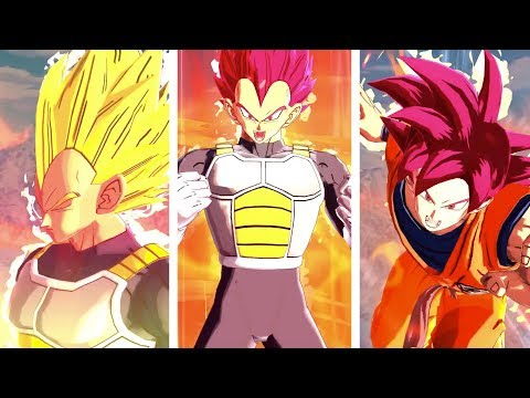 TRANSFORMING Super Saiyan God Vegeta & SSG Goku Coming To Dragon Ball LEgends